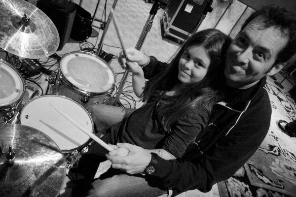 Jeff Campitelli Joe Satriani home gt photos gt 2007 In The Studio