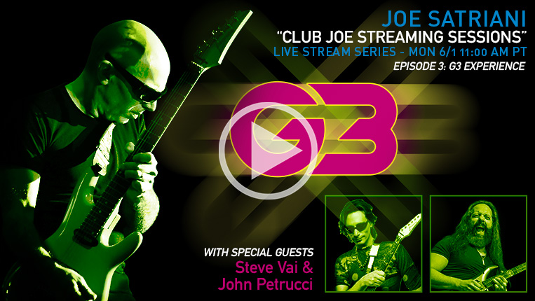 Club Joe Streaming Sessions Episode 3: G3 Experience